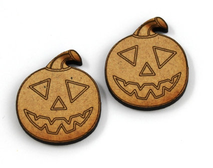 Laser Cut Supplies-1 Piece. Jack O'Lantern Charms-Acrylic. Wood Laser Cut Shape
