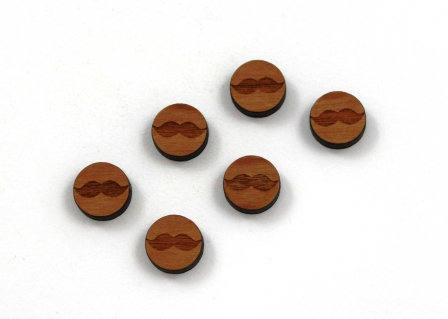 8 Pieces. Little Mo Charms-Wood Laser Cut Shape