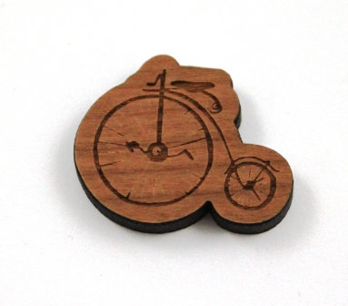 1 Piece. Penny Farthing Bicycle Charms- Wood Laser Cut Shapes