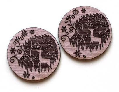 Laser Cut Supplies-1 Piece. Deer Charms-Acrylic. Wood Laser Cut Shape