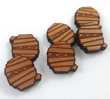 Laser Cut Supplies-8 Pieces. Mummy Charms-Acrylic.Wood Laser Cut Shapes