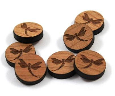 Laser Cut Supplies-8 Pieces. Dragonfly Charms-Acrylic.Wood Laser Cut Shapes