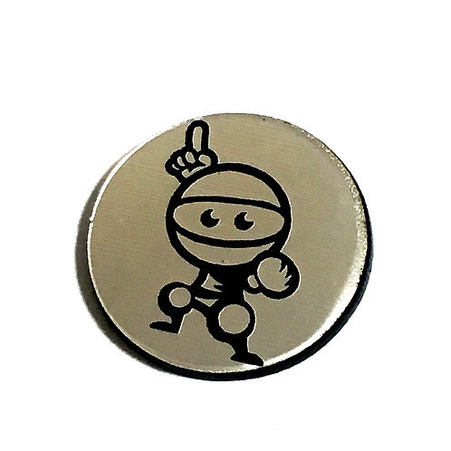 8 Piece. Mr Ninja Mini Cabochons-Acrylic Laser Cut Shapes