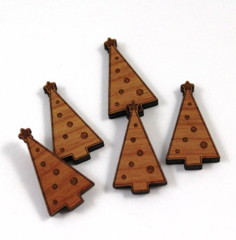 Laser Cut Supplies-8 Pieces Christmas Tree Charms-Acrylic.Wood Laser Cut Shapes