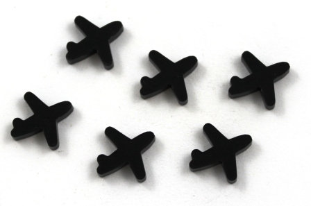 Laser Cut Supplies-8 Pieces.Plane Charms-Acrylic.Wood Laser Cut Shapes
