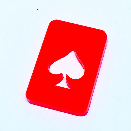 1 Piece. Playing Card Spade Charms-Acrylic Laser cut Shapes Online
