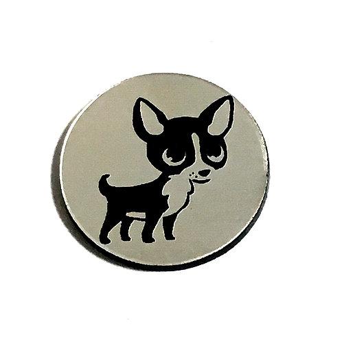 1 Piece. Cute Little Chihuahua Cabochon -Acrylic Laser Cut Shapes