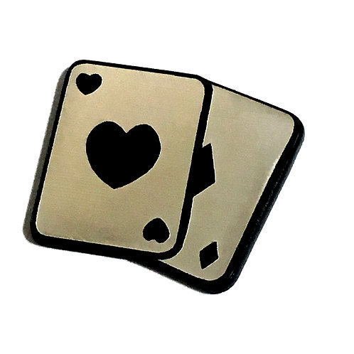 8 Piece. Playing Card Mini Cabochons-Acrylic Laser Cut Shapes