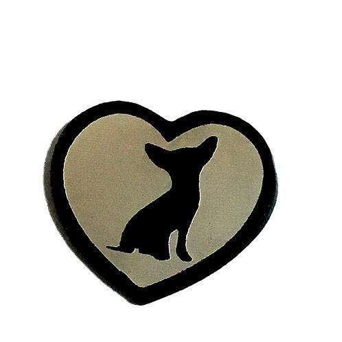 8 Piece. Love Chihuahua Mini Cabochons-Acrylic Laser Cut Shapes
