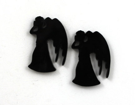 Laser Cut Supplies-1 Piece. Weeping Angel Charms-Acrylic.Wood Laser Cut Shape