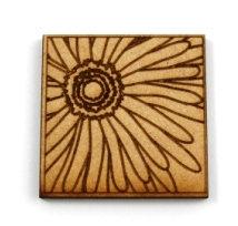 Laser Cut Supplies-1 Piece. Sunflower Tile-Acrylic. Wood Laser Cut Shape