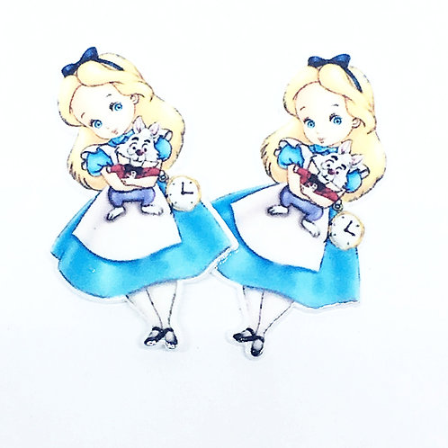 Laser Cut Supplies- 2 Pieces. 24 mm Alice Charms - Laser Cut Acrylic