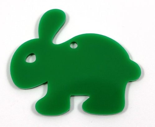 Laser Cut Supplies-1 Piece. Smooth Bunny Charms-Acrylic.Wood Lasercut Shape