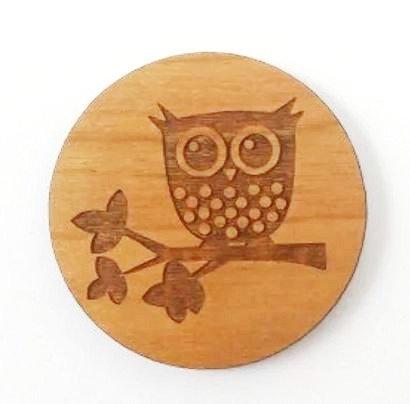 Laser Cut Supplies-1 Piece.Owl Charms-Acrylic. Wood Laser Cut Shape