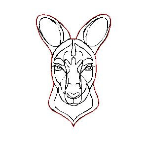 Laser Cut Australian Fine Line Kangaroo Charm