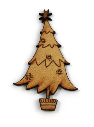 Laser Cut Supplies-1 Piece.Christmas Tree Charms-Acrylic. Wood Laser Cut Shape