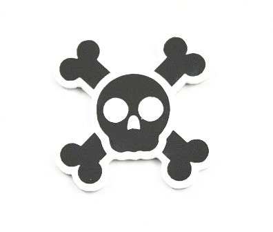 Laser Cut Supplies-1 Piece. Skull and Cross Bone -Acrylic Laser Cut Shape