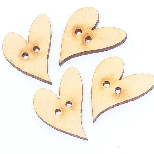 Lasercut Craft Wood Small Heart –1 Piece. 22mm Wide. Scrapbook. Woo