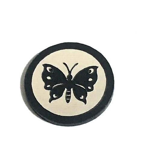 8 Piece. Pretty Butterfly Mini Cabochons-Acrylic Laser Cut Shapes