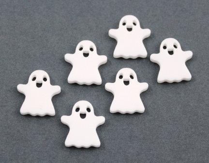 8 Pieces. Friendly Ghost Mini Charms-Acrylic Laser Cut Shape