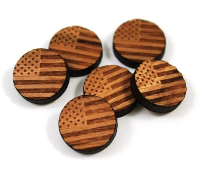 Laser Cut Supplies-8 Pieces. America Flag Charms-Acrylic.Wood Laser Cut Shapes