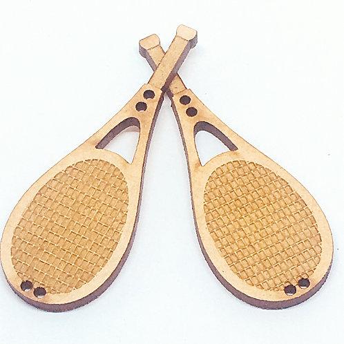 Lasercut Craft Wood Tennis Racquet –1 Piece. 20mm Wide. Scrapbook. Wood Craft