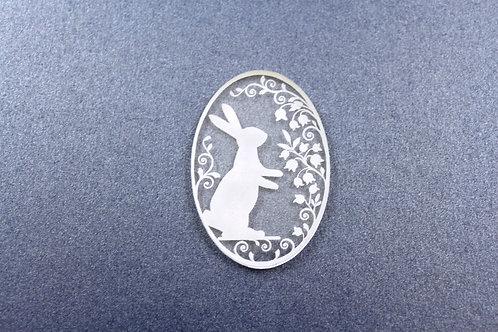 Laser Cut Supplies-1 Piece. Rabbit Charms-Acrylic.Wood Laser Cut Shape