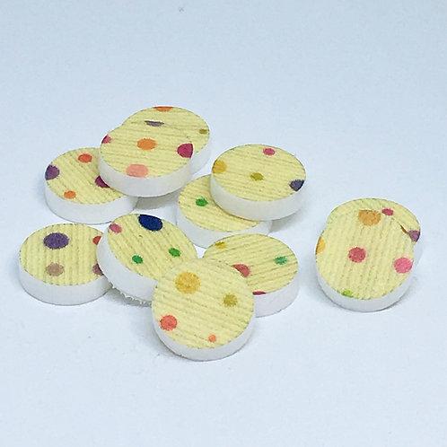Laser Cut Supplies-8 Piece.12mm Polkadot Circle Charm-Acrylic.Wood Laser Cut