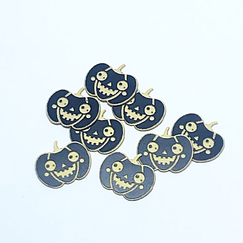 8 Piece. Halloween Jack O'Lantern Mini Charms-Acrylic Laser Cut Shapes