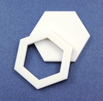 Laser Cut Supplies-1 Piece. Hexagon  Bezel Charms-Acrylic.Wood Lasercut Shape