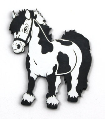 Laser Cut Supplies-1 Piece. Shaggy Pony -Acrylic Laser Cut Shape