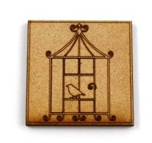 Laser Cut Supplies-1 Piece. Birdcage Tile-Acrylic. Wood Laser Cut Shape