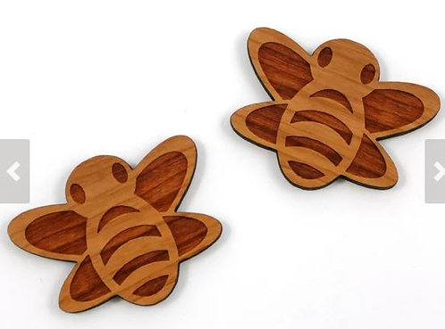 Laser Cut Supplies-1 Piece. Bee Charms-Acrylic. Wood Laser Cut Shape