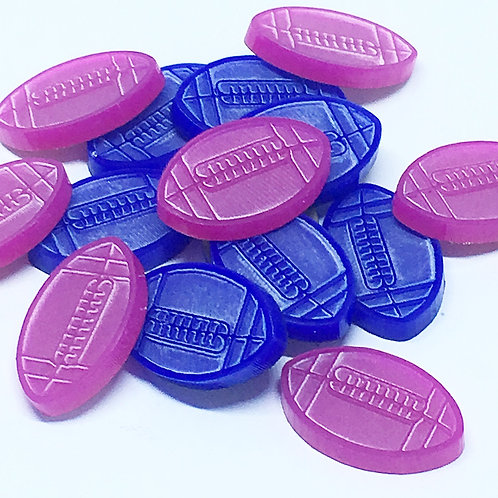 8 Pieces. Football Mini Charms-Acrylic Laser Cut Shapes