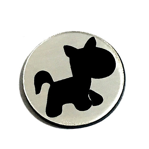 8 Piece. Pony Mini Cabochons-Acrylic Laser Cut Shapes