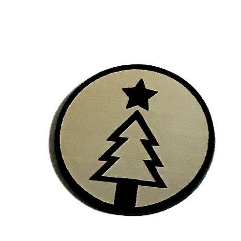 8 Piece. Christmas Tree Mini Cabochons-Acrylic Laser Cut Shapes
