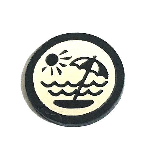 8 Piece. Beach Holiday Mini Cabochons-Acrylic Laser Cut Shapes