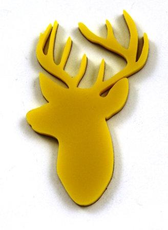 Laser Cut Supplies-1 Piece. Elk Charms-Acrylic.Wood Laser Cut Shape