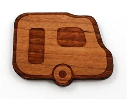 Laser Cut Supplies-1 Piece.Caravan Charms-Acrylic. Wood Laser Cut Shape