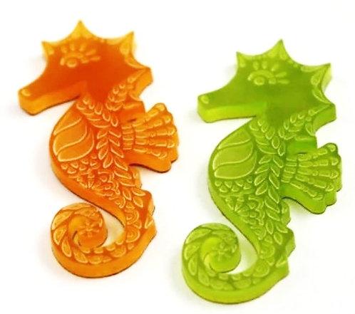 Laser Cut Supplies-1 Piece. Seahorse Charms-Acrylic.Wood Laser Cut Shape