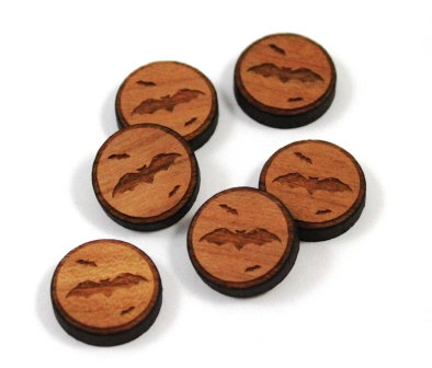 Laser Cut Supplies-8 Pieces.Halloween Bat Charms-Acrylic.Wood Laser Cut Shapes