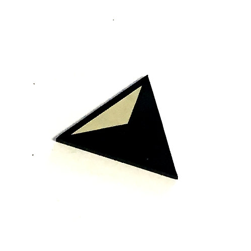 8 Piece. Triangle Illusion Mini Cabochons-Acrylic Laser Cut Shapes