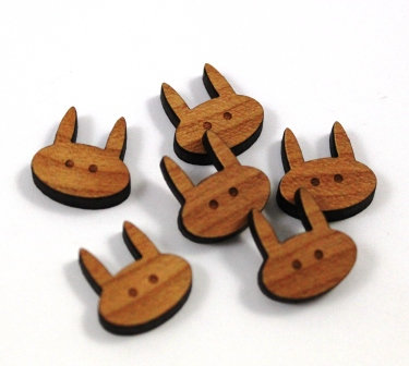 Laser Cut Supplies-8 Pieces.Rabbit Charms-Acrylic.Wood Laser Cut Shapes