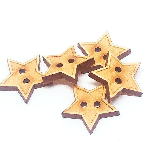 Lasercut Craft Wood Small Star –1 Piece. 20mm Wide. Scrapbook. Wood Craft
