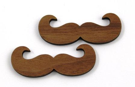Laser Cut Supplies-1 Piece. Moustache Charms-Acrylic. Wood Laser Cut Shape