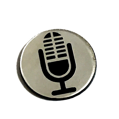 8 Piece. Retro Microphone Mini Cabochons-Acrylic Laser Cut Shapes