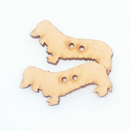 Lasercut Craft Wood–1 Piece. Sausage Dog 40mm Wide.Scrapbook.Wood Craft Shape