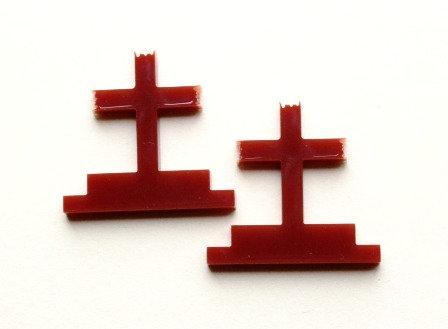 Laser Cut Supplies-1 Piece. Cross Charms-Acrylic.Wood Laser Cut Shape