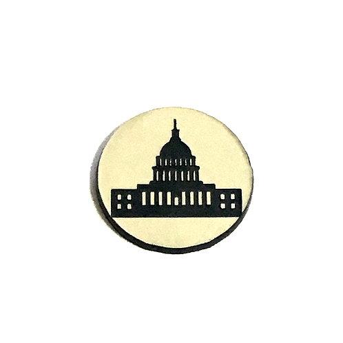1 Piece. United States Washington Cabochon -Acrylic Laser Cut Shapes