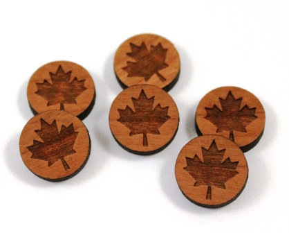 Laser Cut Supplies-8 Pieces.Maple Leaf Charms-Acrylic.Wood Laser Cut Shapes